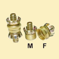 Brass nozzle and hose connector # 261-024 - Are Sheng Industry