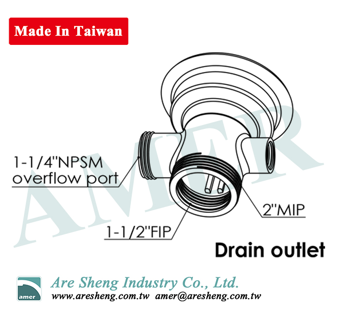 D79-008-lever handle waste valve with overflow port