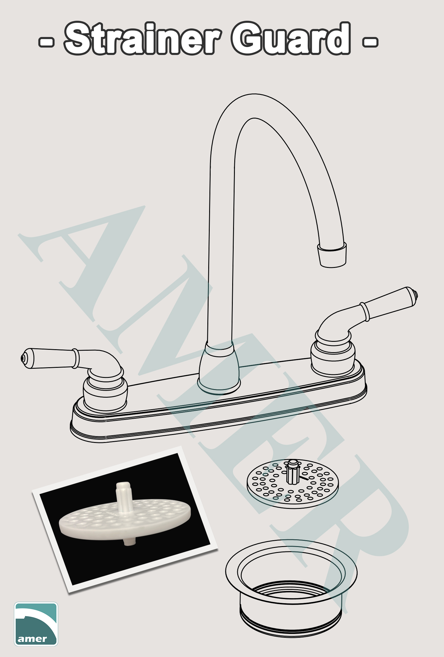 Plastic strainer guard in your kitchen