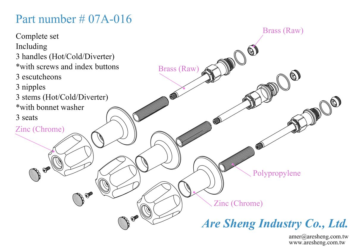 Drawing of Pfister Verve kits-07A-016-Are Sheng