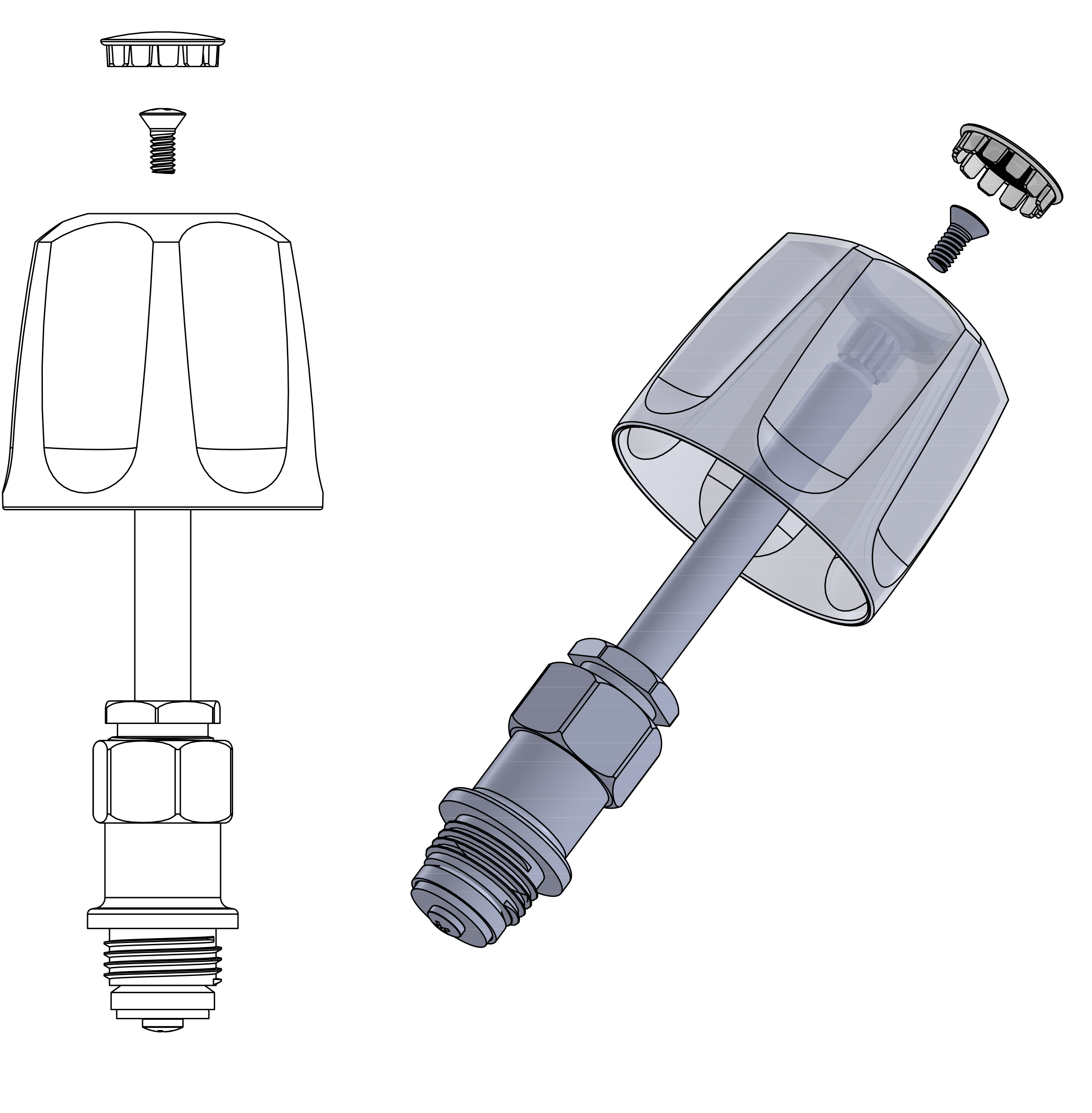 Drawing of Pfister stem and handle-Are Sheng