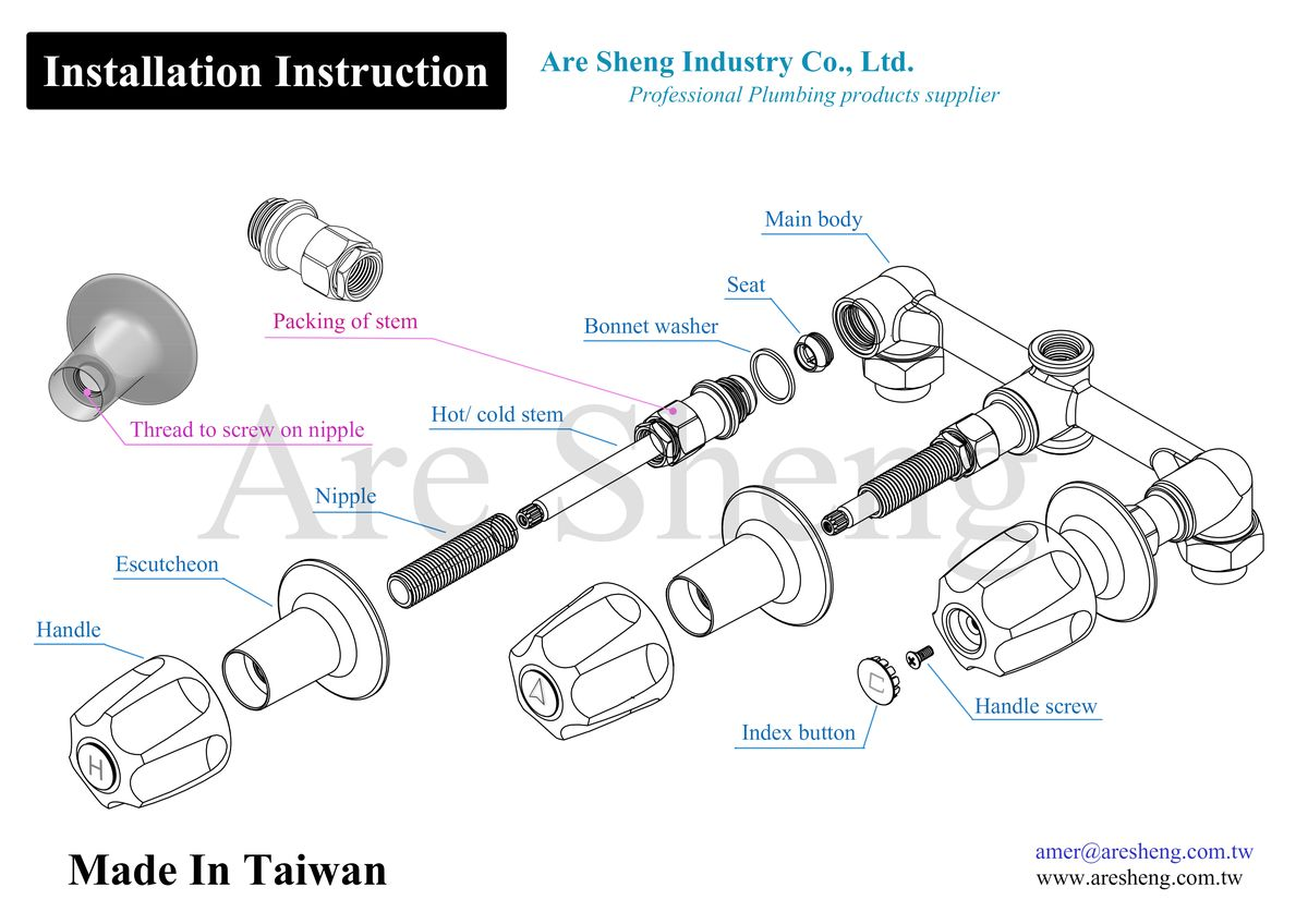 Pfister verve hadnle -Installation Instruction -Are Sheng