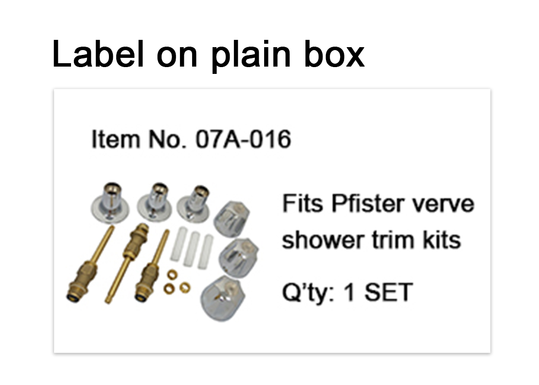Label of Pfister shower kits-Are Sheng