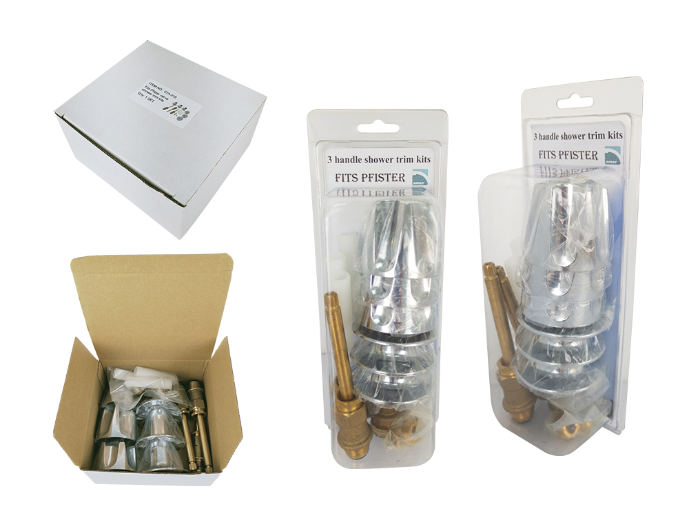 Package of Pfister shower kits-Are Sheng