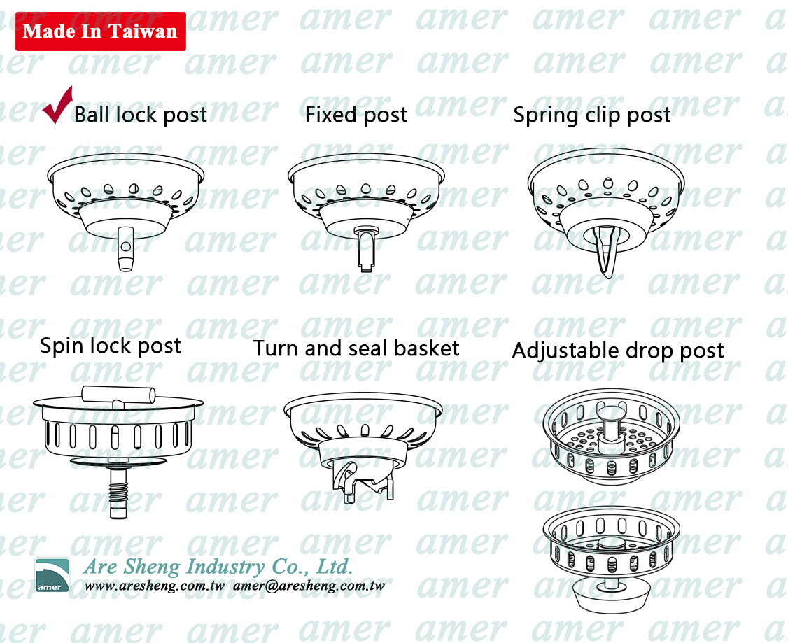 sink strainer post type illustration
