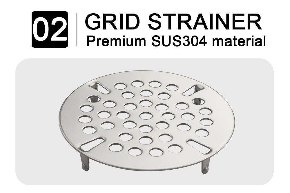 grid strainer - twist handle waste valve-no oveflow