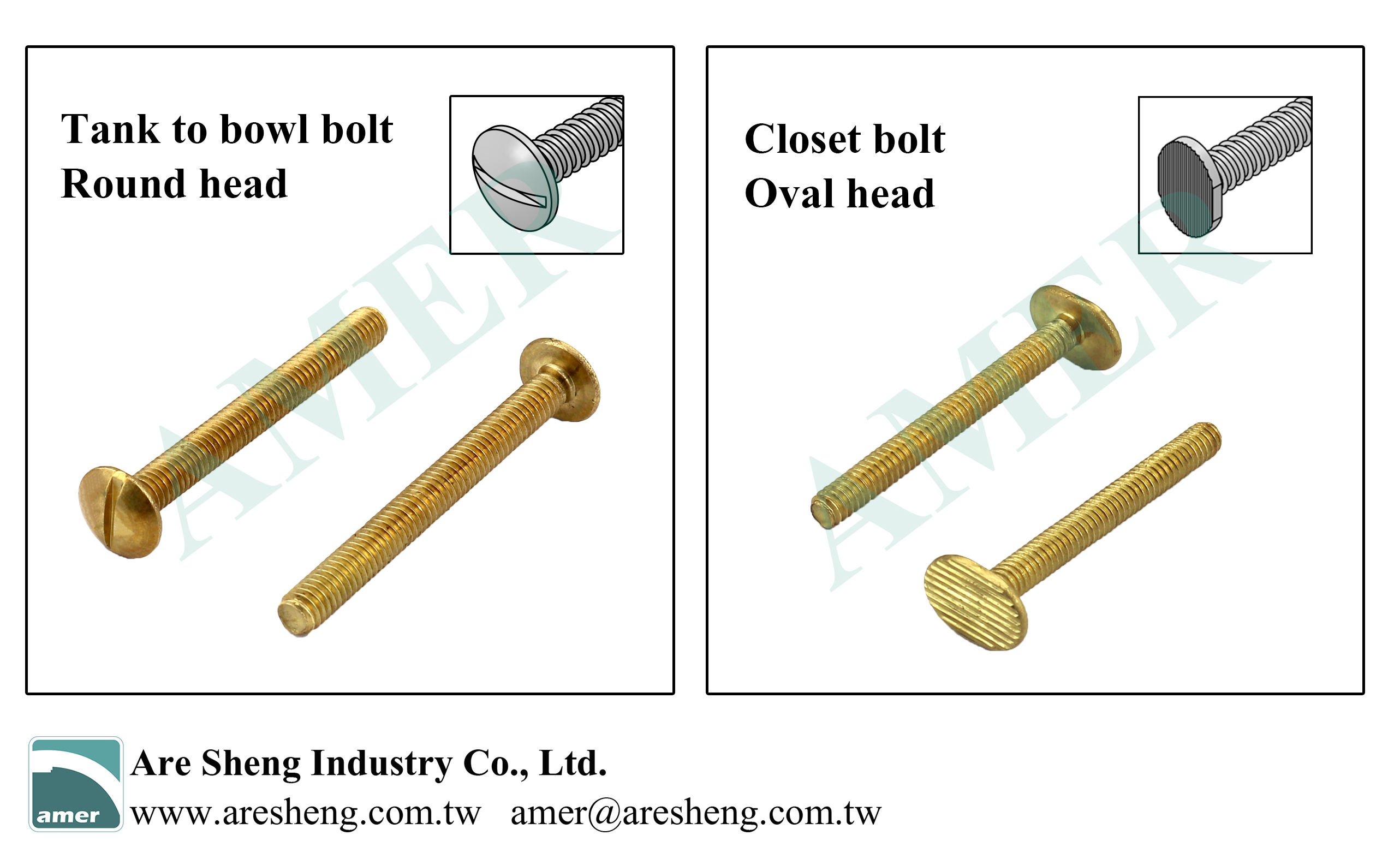 tank to bowl bolt and floor to bowl bolt