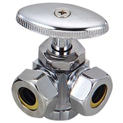 Brass angle valve # 18-008 - Are Sheng Plumbing Industry