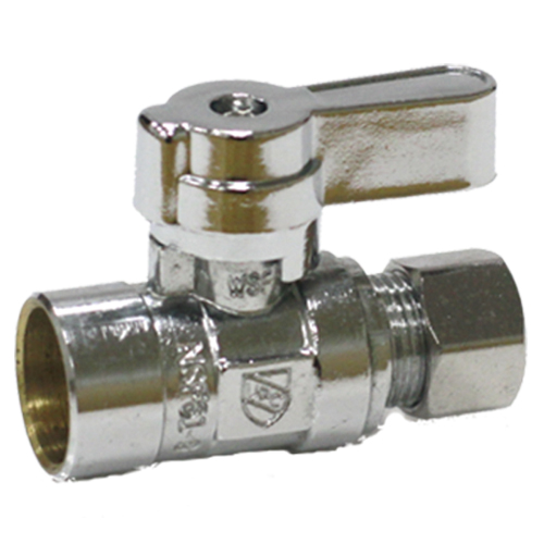 Brass straight valve # 181-006 - Are Sheng Plumbing Industry