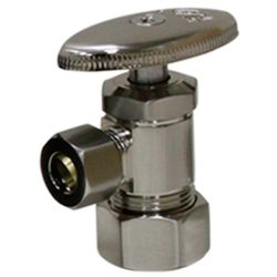 Brass angle valve # D64-001 - Are Sheng Plumbing Industry