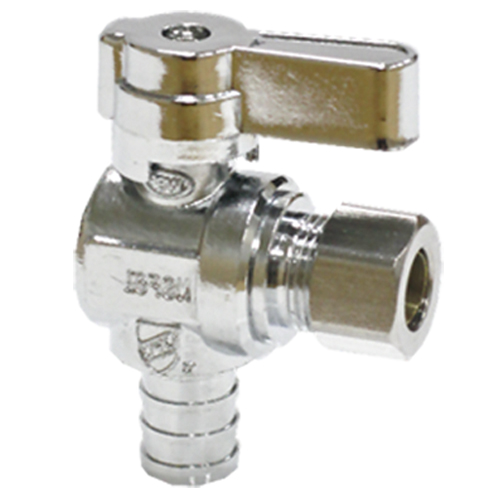 Brass angle valve # D64-004 - Are Sheng Plumbing Industry