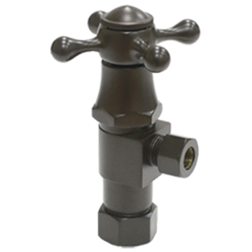 Brass angle valve # D64-005ORB - Are Sheng Plumbing Industry