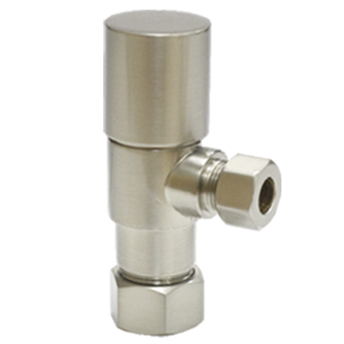 Brass angle valve # D64-006SN - Are Sheng Plumbing Industry