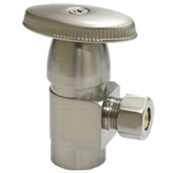 Brass angle valve # D64-008AN - Are Sheng Plumbing Industry