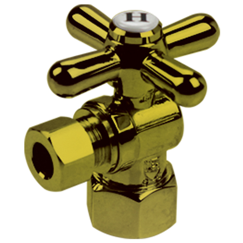 Brass angle valve # D64-010PVD - Are Sheng Plumbing Industry