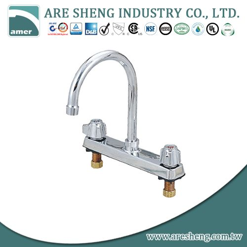 8 inch commercial bar faucet, chrome 081-04