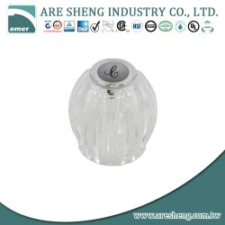 Sterling faucet knob in clear acrylic D39-014