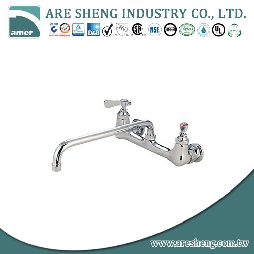 8 inch heavy duty wall mount faucet, brass material 081-06