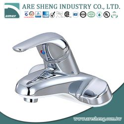 "4"" brass single hole bathroom faucet in chrome finish 02-001"