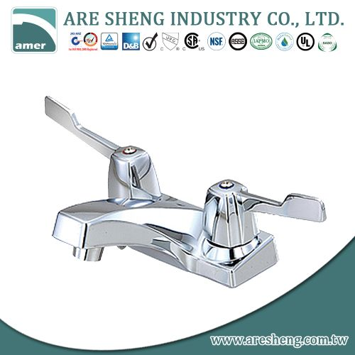 "4"" brass lavatory faucet chrome plated, metal blade handle 04A-022"