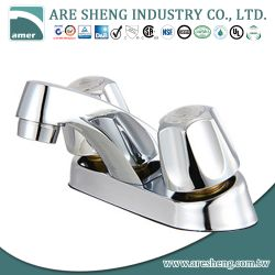 "4"" lavatory faucet with metal handle in chrome finish 03-001"