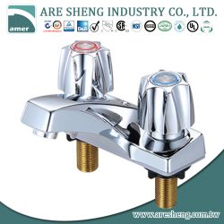 "4"" brass lavatory faucet chrome plated, zinc handle 03A-025"
