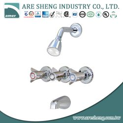 Three handles tub & shower faucet, with spout 07A-013