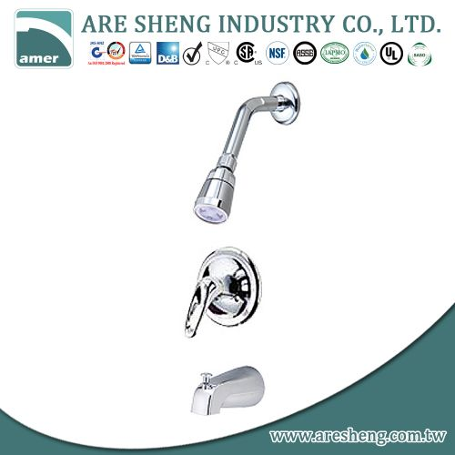 Tub & shower set with single handle and spout 07A-014A
