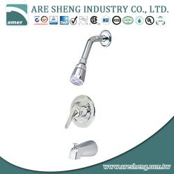 Tub & shower set with single lever handles and spout 07A-014B