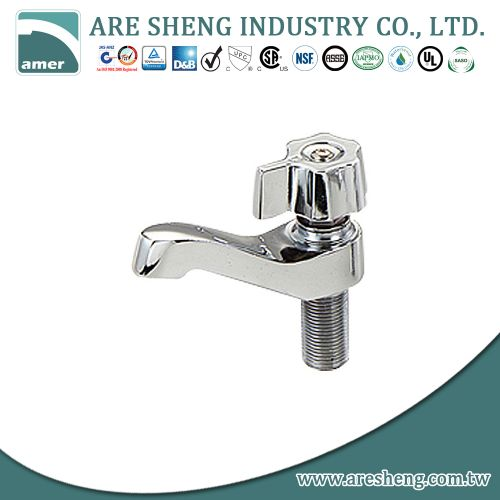 "1/2"" brass basin faucet chrome plated, with metal handle 28-007"