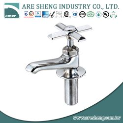 "1/2"" brass basin faucet chrome plated, middle type 28-010"