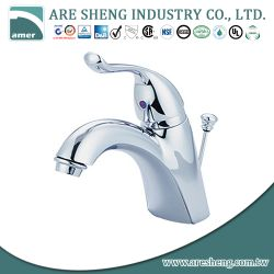 "4"" brass lavatory faucet with metal handle D02-002"