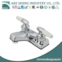 "4"" plastic lavatory faucet with lever handle, chrome D06-001"
