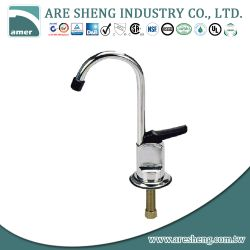 Brass drinking water faucet with lever handle and plastic nozzle 28-016