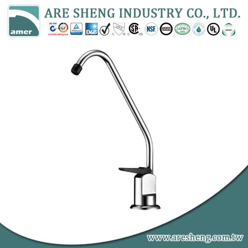 Drinking water faucet with plastic nozzle and handle, chrome finish D11-001