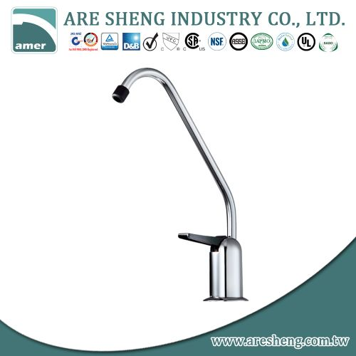 Drinking water faucet with single handle for filters D11-002