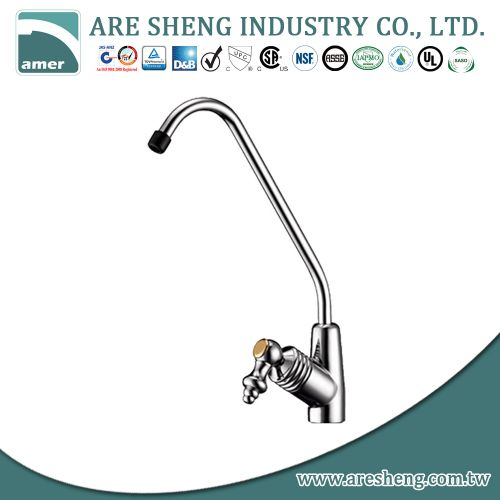 Brass drinking water faucet with brass handle and plastic nozzle D11-003