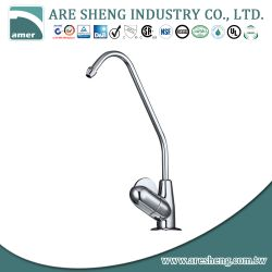 Brass drinking water faucet with quarter turn handle, chrome D11-005