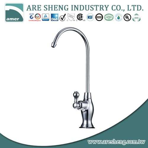 Brass water filter faucet with single handle, chrome D11-006
