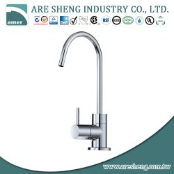Drinking water kitchen faucet with stick brass handle, high spout D11-008