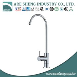 Brass water filter faucet with stick brass handle, high spout D11-009