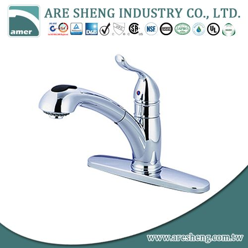 Pullout kitchen tap with s.s. ball #D04-002