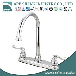 Chrome brass high rise spout kitchen faucet #01-015