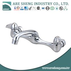 Chrome brass wall mount kitchen tap #06-008