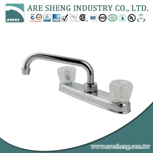 Chrome plastic kitchen sink faucet #D06-004
