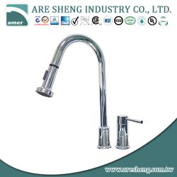 Single lever kitchen faucet with pullout spray #D01-006