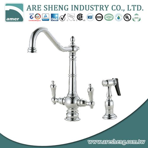 Culinary kitchen faucet with lever handle #D01-007