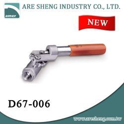 Deadman spring return handle ball valve