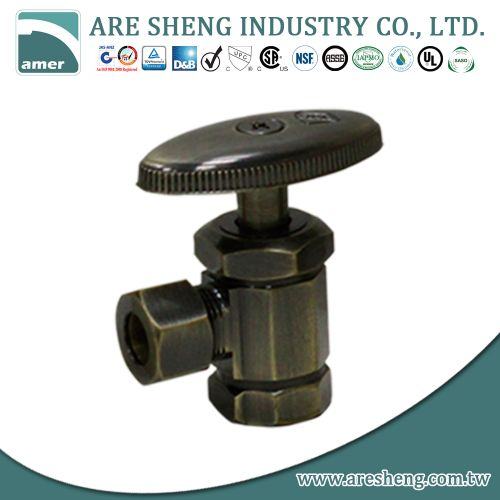 Brass angle valve # 18-001 - Are Sheng Plumbing Industry