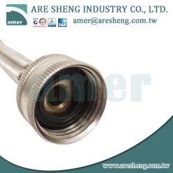 Washing machine connector stainless steel tube